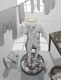 Dark Art Illustrations, Illustration Art, Anime Art Girl, Manga Art, Drawing Feelings, Deep Art, Arte Obscura, Bright Pictures, Stray Dogs Anime