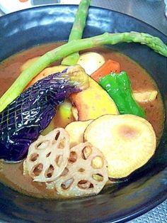 「おつちで作る「スープカレー」」札幌で有名なスープカレー。あの時の味が忘れられない(笑)【楽天レシピ】