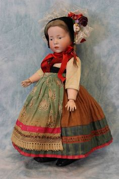 "c.1910 15"" K*R Kammer and Reinhardt 101 Marie German Character Doll from turnofthecenturyantiques on Ruby Lane"