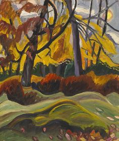 Prudence Heward Autumn Landscape - Handmade Oil Painting Reproduction on Canvas Canadian Painters, Canadian Artists, Quebec, Montreal, Canvas Painting Landscape, Painting Trees, Female Painters, Autumn Painting, Fall Paintings