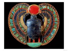 Scarab Pectoral. From the Tomb of Tutankhamun, in the Valley of the Kings at Thebes, Egypt. Circa 1361-52 B.C.