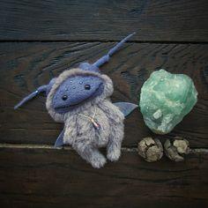 Little lavender fairy for 自作 Fabric Dolls, Fabric Art, Wet Felting, Needle Felting, Plush Dolls, Doll Toys, Monster Dolls, Cat Doll, Needle Felted Animals