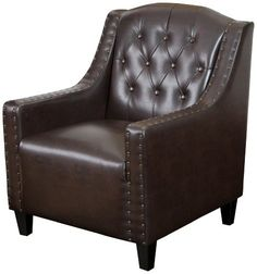 Best Selling Gregory Tufted Leather Club Chair * Check out this great product.Note:It is affiliate link to Amazon.