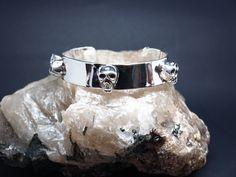 Zino UK Jewellery mens solid sterling silver skull bangle
