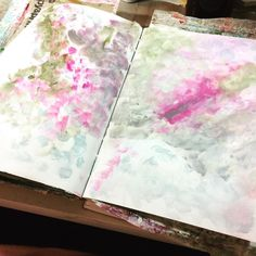 A little slow getting to the studio tonight but the colour has exploded already #art #artjournal .@thestromboshow #strombo