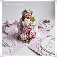 Krystynas i jej papierowy świat: Tort urodzinowy Card In A Box, Pop Up Box Cards, Wedding Boxes, Wedding Cards, Exploding Gift Box, Magic Box, Folded Cards, Hobbies And Crafts, Greeting Cards Handmade