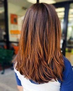 orta boy katlı saç kesimi