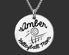 Volleyball Mom Personalized Necklace