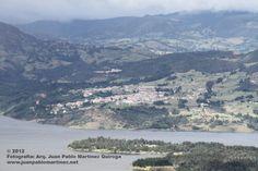 Pueblo de Gustavita visto desde el cerro de Pionono en Sopo Colombia