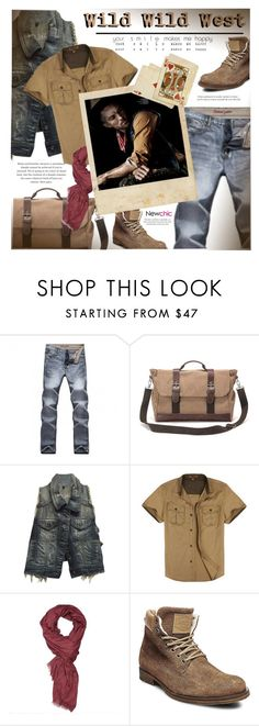 """""""NewChic 3.16"""" by monazor ❤ liked on Polyvore featuring Carmar, Bullish, Steve Madden, men's fashion and menswear"""