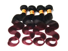 """50g/Bundle Body Wave Ombre 10""""-30"""" Indian 100% Real Human Hair Extension Weft #WIGISS #HairExtension"""