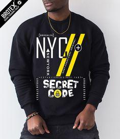 Brooklyn Nyc, Men Design, Graphic Sweatshirt, T Shirt, Urban, Denim, Sweatshirts, Tees, Sleeves