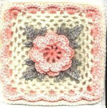 Irish Rose Square - crochet free pattern.