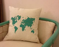 Decorative Throw Pillows Lets Get Lost Travel by Paintspiration