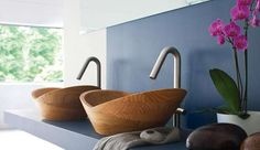 Bold Bamboo Basins - The Thalia Wooden Sink by Francoceccotti is Sustainably Chic (GALLERY)hell yeah