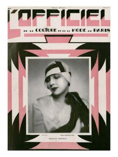 L'Officiel, July 1928 - Mlle Marcelle by Madame D'Ora. Premium poster from Art.com.