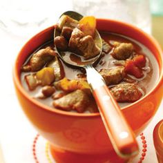 Chunky Chipotle Pork Chili.  You can tell its cold outside since I am cruising chili recipes