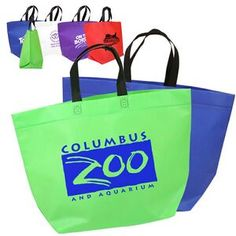 0ab8e25169ea Promotional Two Tone Heat Sealed Nonwoven Tote Item (Min Qty  Customize  your Promotional Tote Bags with your company logo and with no setup fees.