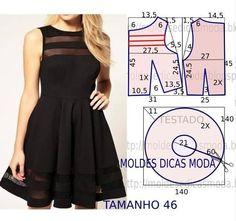 Mod@ en Line@ Diy Clothing, Sewing Clothes, Dress Sewing Patterns, Clothing Patterns, Diy Fashion, Fashion Design, Diy Dress, Party Dress, Dressmaking