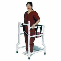 PVC Walker with Padded Seat MAUVE - MESH by Mjm International Corp. $229.00. Padded backrest for additional support and comfort.. Seat comes with solid support base to prevent sagging.. Adjustable safety belt.. A perfect solution for ambulatory patients in confined spaces.. The durable PVC Walker with Padded Seat provides superior mobility assistance and also offers patients with a comfortable seat when they are feeling tired and weak. Four rotating casters glide effo...