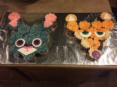 Zootopia Judy and Nick Cupcake Cake
