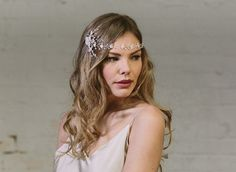 Debbie Carlisle Enchanted and Limelight wedding bridal headpiece collections for the vintage and bohemian bide