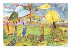 Poster oder Postkarte im ÖKO-Druck mit Illustration von E.M. Ott-Heidmann