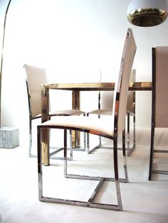 Dining Table and Chairs in the Manner of Romeo Rega - Modern Love: Mid-Century Modern Furniture, Lighting, Design
