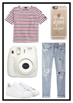 """""""#471 basic"""" by xjet1998x ❤ liked on Polyvore featuring Saint James, rag & bone/JEAN, adidas, Casetify and Fujifilm"""