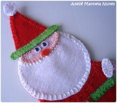 Aplique de Papai Noel de Feltro