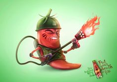 "Aurea Foods: ""Flamethrower"" Print Ad  by GT America Comunicacao"