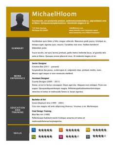 Free Resume Templates Glimmer  Free Resume Templatehloom  Projects To Try