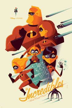 Edgy Posters Pay Tribute to the Dark Side of Disney Classics | The Incredibles Tom Whalen/Mondo | WIRED.com