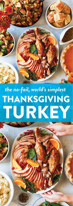 Easy Thanksgiving Turkey – The only recipe you will ever need! It's the worl… Easy Thanksgiving Turkey – The only recipe you will ever need! It's the world's simplest, no-fail, no-fuss turkey! Perfectly golden brown, juicy and tender! Damn Delicious Recipes, Delicious Food, Tasty, Holiday Recipes, Dinner Recipes, Holiday Meals, Weeknight Recipes, Party Recipes, Roasted Turkey