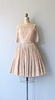 Sugartime lace dress vintage 1950s dress lace 50s by DearGolden