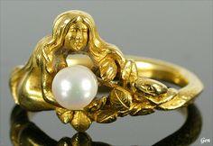 Art Nouveau ring,ca 1900