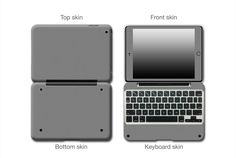 Give a new look and enhanced protection for your ClamCase Pro iPad Mini Dark Grey Matte Antimicrobial Skin Wrap Enhance with an Antimicrobial Coating Light sandy texture with a matte industrial look Great way to protect and cover scratches