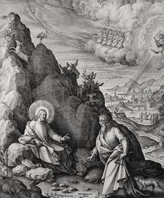 Philip De Vere presents Bowyer Bible print 3530 The temptation to turn stones into bread Matthew 4:1-4 Passeri on Flickr. A print from the Bowyer Bible, a grangerised copy of Macklin's Bible in Bolton Museum and Archives, England. Photo: Harry...