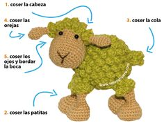 Tutorial: oveja amigurumi (crochet sheep)  oh my gosh! How cute!   Non-English site.  Use google translate for the page.