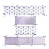 Found it at Wayfair - Violet Lavender Stripe and Dot Reversible Bumper