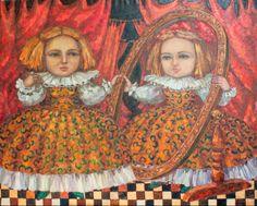 artist Kallistova Elena, Through the looking glass
