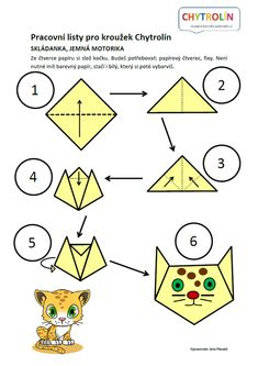 Červený klíček :: e-Chytrolín Origami, Preschool, Butterfly, Kids Rugs, Zoo, Cards, Animals, Games, Thoughts