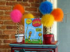 Dr. Seuss' Lorax inspired Truffula Tree Seedlings DIY! - Uniquely Grace Designs