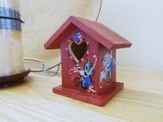 Norwegian Rosemaled Mini Birdhouse by OlsenTrademarkCrafts on Etsy, $18.00