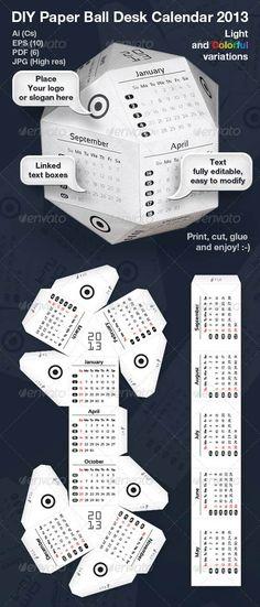 "PSD : Design Kalender Meja Unik ""Kalender Bola"" | network.biz.id"