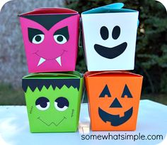 Halloween Takeout boxes -cute!