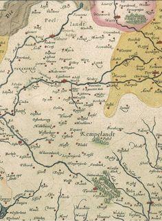 Detail van kaart Brabant