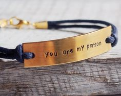You are my person bracelet, quote bracelet, personalized engraved bracelet jewelry Personalized Bracelets Custom Necklace Wholesale craft supplies - Turntopretty Boyfriend Anniversary Gifts, Boyfriend Gifts, Boyfriend Girlfriend, Jewelry Gifts, Jewelry Bracelets, Bracelet Men, Necklaces, Diy Jewelry, Silver Jewelry