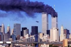 This picture of an angled commercial airplane crashing into the World Trade Center's South Tower on September 11 2001