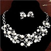 European Style Hollow Flowers Pearl Necklace ... – USD $ 13.99